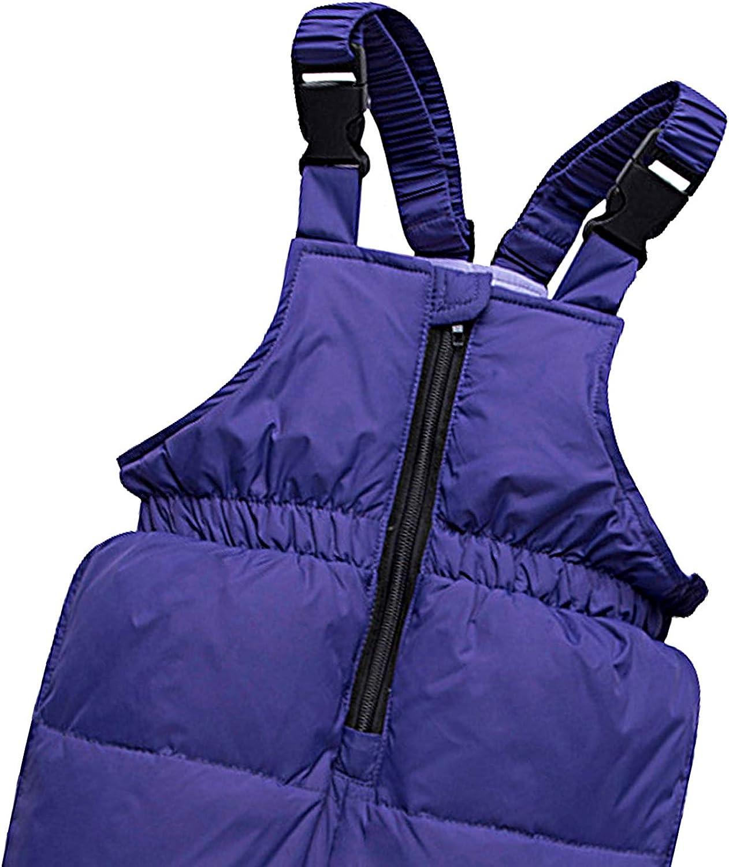 amropi Combinaison de Ski B/éb/é Filles Veste de Duvet /à Capuche et Pantalons de Neige 2 Pi/èces Hiver Ensemble de Ski pour 1-5 Ans