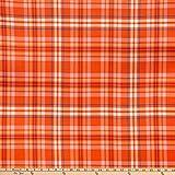 E.Z. Stoff Polyester Spun Jersey Knit Flanell rot/orange