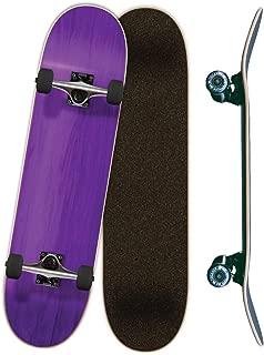 Yocaher Blank, Checker, Camo Pro Complete Skateboard 7.75