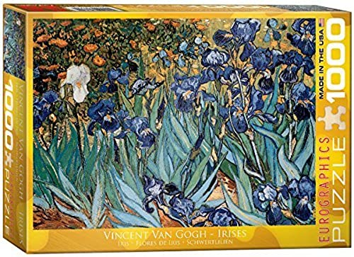 Eurographics Irises by Vincent Van Gogh Puzzle (1000 Pieces) by Eurographics