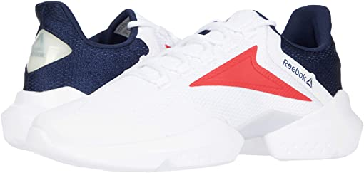 White/Collegiate Navy/Rebel Red
