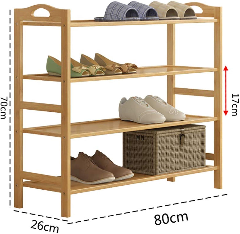 Entrance shoes Rack shoesbox Change shoes Bench Shelf Storage Shelf Multifunction Household Dorm Room Space Saving Doorway Living Room Bamboo (color   80  26  70cm)