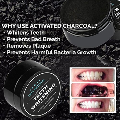 Baomabao Natural Organic Activated Teeth Whitening Powder Charcoal Bamboo Toothpaste