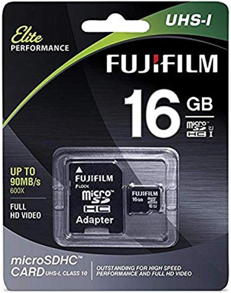 Fujifilm Elite 16GB microSDHC Class 10 UHS-1 Flash Memory Card 600x / 90MB/s