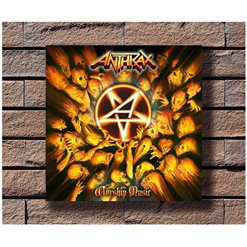 wzgsffs Anthrax Music Rapper Album Cover Hot Poster E Stampe Wall Art Print su Tela per Soggiorno Decorazione Camera da Letto di Casa-24X24 Pollicix1 Senza Cornice