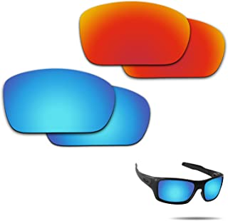 Fiskr Anti-saltwater Polarized Replacement Lenses for Oakley Turbine 2 Pairs Pack