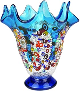 YourMurano Murano Glass Vase, Elegant Glass vase, Made in Italy, Blown Glass, Modern Design, Handmade, 100% Trademark of Origin Guaranteed, Toboca