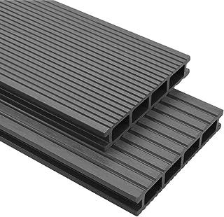 vidaXL deski tarasowe WPC 25 m² 4 m 25 mm szare kompletny z