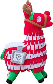 WEPOP Christmas Loot Llama Plush Stuffed Toy Doll Figure, Troll Stash Animal Alpaca Gift for Kids Girls Boys Children (L)