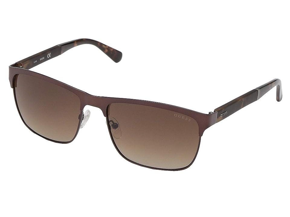 GUESS GU6892 (Matte Dark Brown/Gradient Brown) Fashion Sunglasses