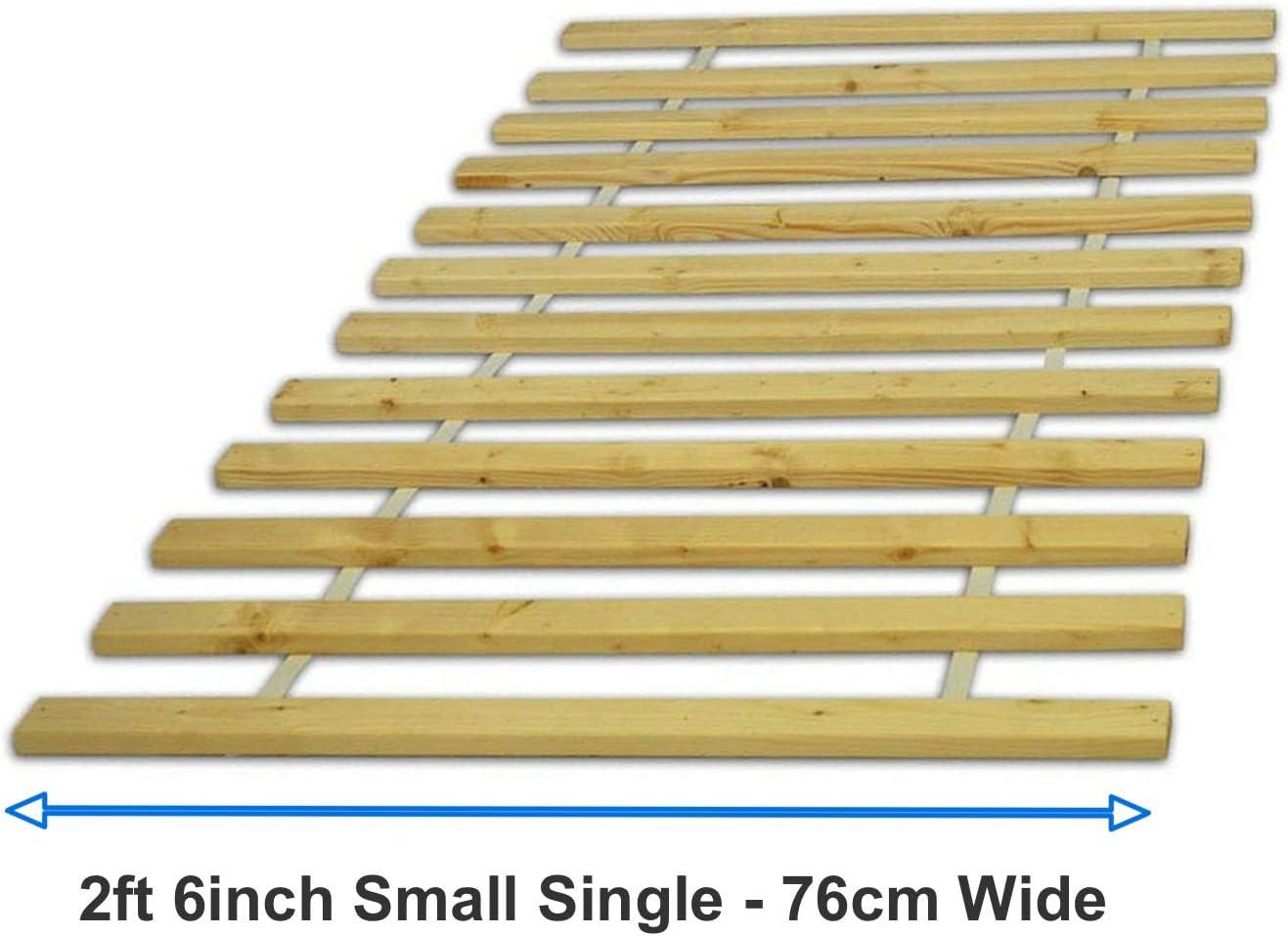 BMF DIRECT Somier de láminas de madera de repuesto para colchón de base de madera de pino para cama individual, doble/super king (1,5 m kingsize)