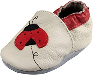 FREE FISHER Baby Soft Sole Leather Crib Shoes Infant Toddler First Walking Prewalker for Boys Girls
