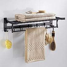 Space aluminium rek, badkamer antiek koper dubbel handdoekrek, badkamer retro handdoekrek met haak