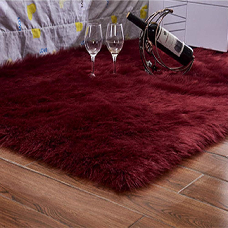 Tappeti Alfombra de Pelo Largo sintético de Piel de Oveja sintética para Sala de Estar, Dormitorio, decoración, Deeprojo, 100x150cm 3.2x4.9ft