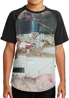 Black Raglan T-Shirts Short Sleeve Pusha Daytona T Tee for Boys Girls