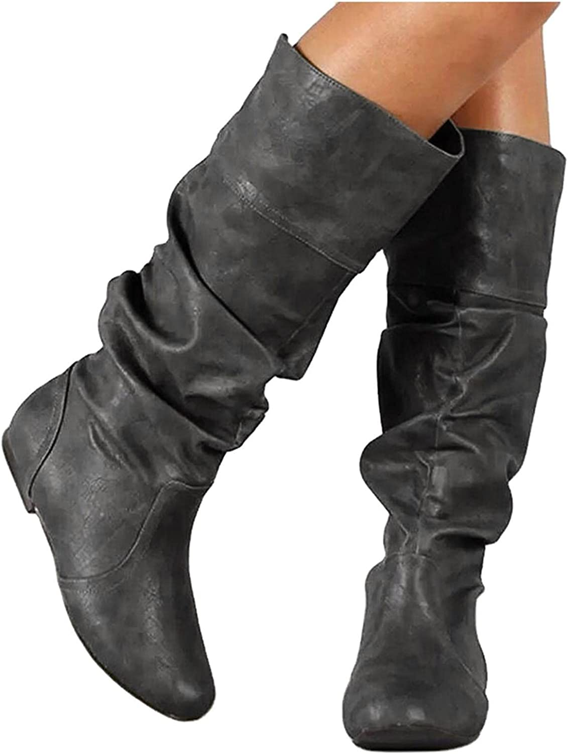 Price reduction Knee High Boots for Women Great interest Womens Rider High-Top Bo Winter Autumn