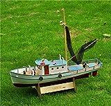 Adorablemente Decoraciones Modelo de embarcaciones Kits de construcción Modelo Modelo Modelo de barco Escala 1/25 Kits de modelo de barco de pesca clásico RC Naxos Pesca Modelo de barco Exhaustivo