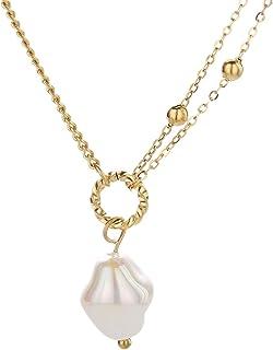 Simple retro fashion small pearl Multi Chain women's Necklace