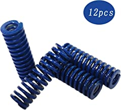 Sunhokey 12PCS 8mm OD 20mm Long Blue Hot Bed Spring Light Load Compression Mould Die Springs for 3D Printer CR-10 CR-10s Ender 3