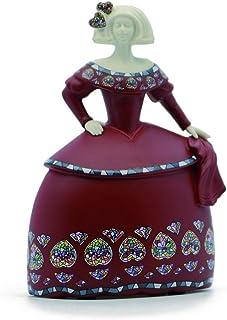 DRW Figura de una menina de Ceramica Blanco 17,5x13,5x18cm