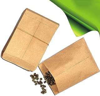 Home Decor Plants Flowers Seeds 100Pcs Vintage Kraft Paper Bags Hybrid Seed Corn Farm Pollen Bag Sack Pouch