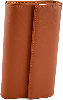 Made In Italy Saffiano Leather Woman Wallet Color Orange - Accessories