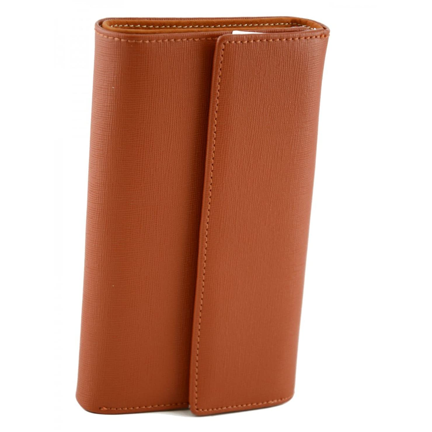 相関するに対処する記者Made In Italy Saffiano Leather Woman Wallet Color Orange - Accessories
