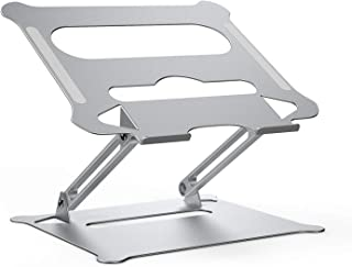 Laptop Stand for Desk KXLY Adjustable Laptop Holder Ergonomic Portable Computer Stand with Heat-vent to Elevate Laptop, Vertical Laptop Stand Laptop Mount Compatible with MacBook, Air, Pro All Laptops