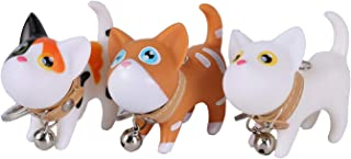 Cat Keyrings, Kitten Key Rings Chains for Car Keys Kawaii Adorable Bag Pendant Toy,Gift Idea for Girls and Kids, Women and Men Charms(3 Packs)