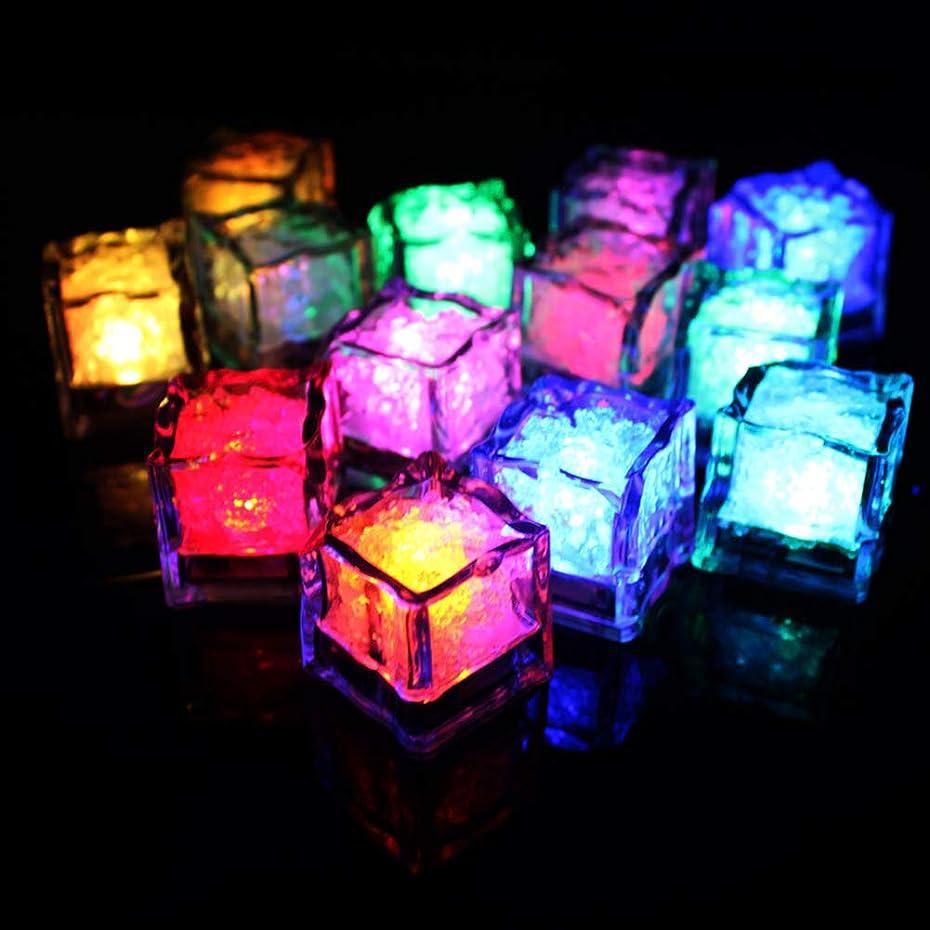 入手します一緒ふけるACHICOO 装飾ライト 12pcs/セット Led アイスキューブ形状 水で光る フラッシュライト パーティーボール グラス インテリア 結婚式 祭り バー