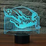 7 changement de couleur 3D RVB illusion gardien gardien de but LED veilleuses...