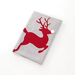 OSISLE Baby Christmas Elk Throw Blanket,100% Cotton for Bed,Couch or Travel