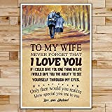 Chicarianoy FM028 - to My Wife - Never Forget That I Love You - Family Poster Poster Wall Art Home Decor Gifts for Lovers Painting