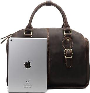 "Men's Accessories Vintage Style Leather Business Briefcase 13"" Laptop Tote Shoulder Messenger Bag Brown for Men Outdoor Recreation"