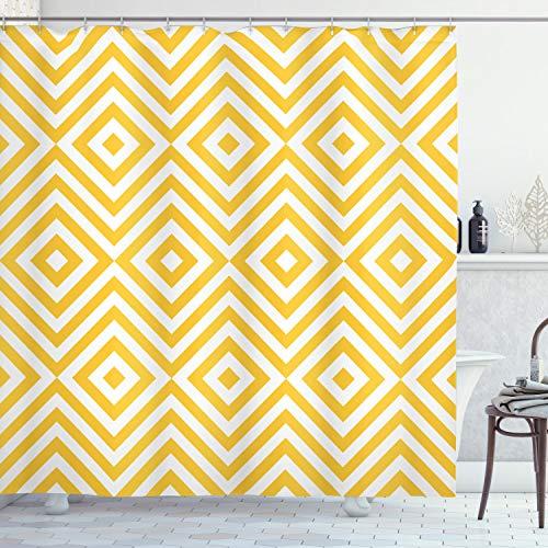 Cortina de baño amarilla 175x200 cm