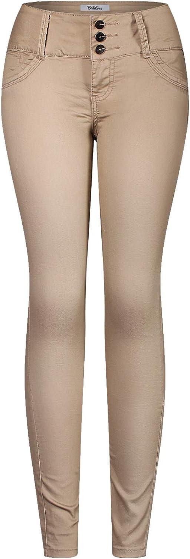 2LUV Women's 3 Button Stretchy Uniform Pants Skinny color Jeans