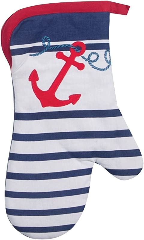 Kay Dee Designs Anchor S Away Nautical Embroidered Oven Mitt