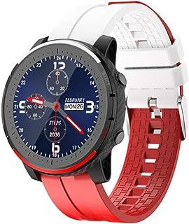 AEF Smartwatch, IP67 Prueba Agua, Pulsera Actividad Inteligente Impermeable Inteligente Reloj Deportivo Pantalla Táctil Completa con Pulsómetro Cronómetro Pulsera Deporte para Hombres Mujeres,Rojo