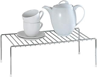 WENKO Étagère pour vaisselle, Métal chromé, 42.5 x 15 x 22 cm, Argent brillant