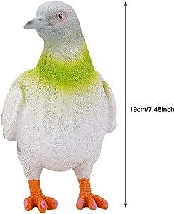 KEYREN 2 Piezas Decoración de jardín Simulación Adornos de Aves Artesanías Escultura Adornos de Aves