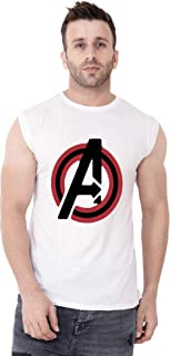 Broyz Avenger Men Round Neck White Sleeveless T-Shirt