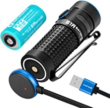 OLIGHT S1R Baton II 1000 Lumen Compact Rechargeable EDC Flashlight with Single IMR16340 and Magnetic Charging Cable
