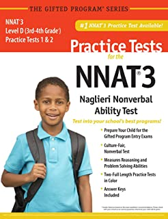 NNAT3® 2 Practice Tests Level D (3rd-4th Grade) in Color_ Publisher of the #1 CogAT® Practice Test