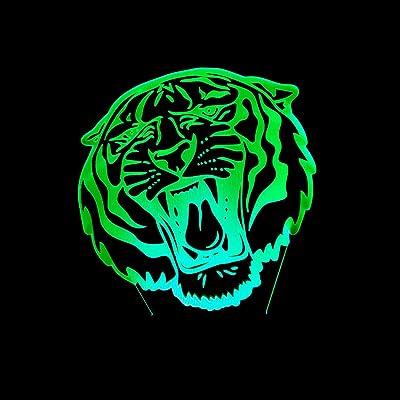 BFMBCHDJ Lámpara de acrílico visual Creative Tiger Head Luz de ...
