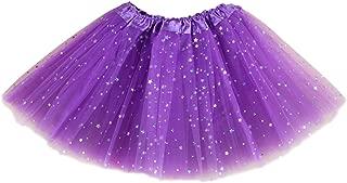 Jastore Girls Layered Stars Sequins Tutu Skirt Princess Ballet Dance Dress