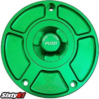Sixty61 Green Gas Cap for ZX14 ZX14R 2006-2013 2014 2015 2016 2017 2018 Kawasaki Fuel Tank Keyless