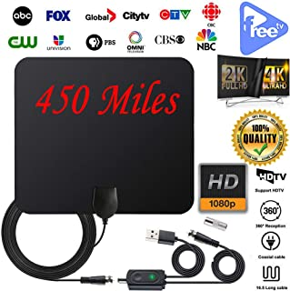 HDTV Antenna Indoor Number Signal Booster TV Antenna Support All TV High Performance