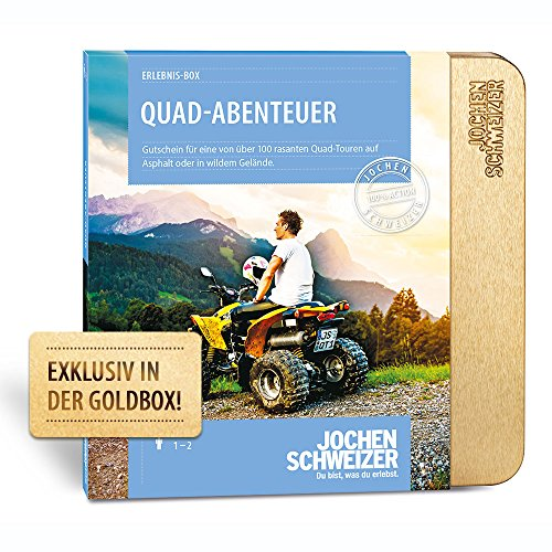 Jochen Schweizer Erlebnis-Box Quad Abenteuer, mehr als 70 Erlebnisse für 1 Person, Gutschein inkl. Geschenk-Box