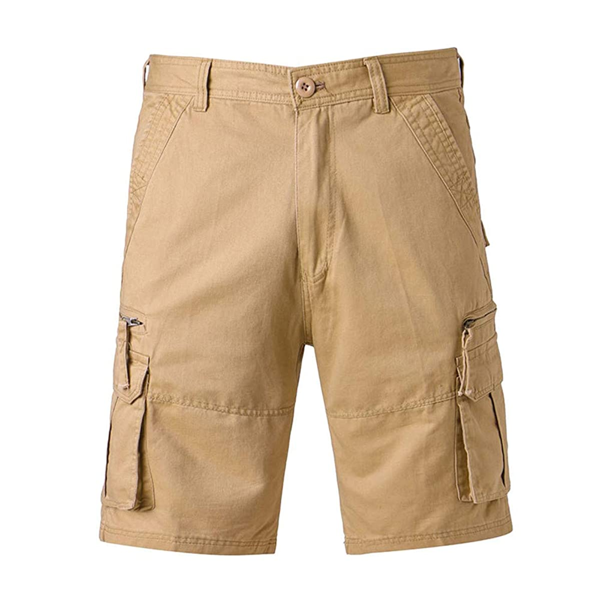 Bsjmlxg Men's Loose Straight Multi-Pocket Cargo Shorts Relaxed Fit Outdoor Casual Outdoor Wear Training Combat Utility Shorts