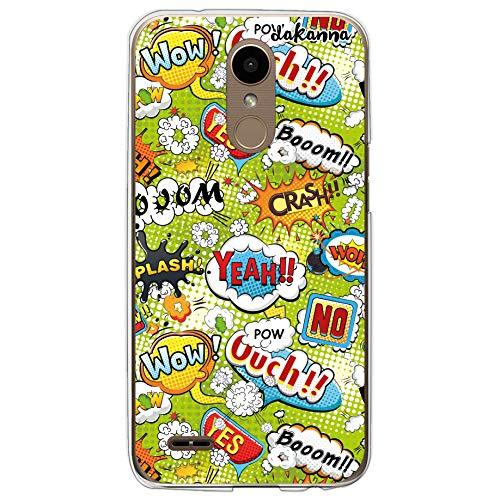 dakanna Funda Compatible con [LG K10 2017] de Silicona Flexible, Dibujo Diseño [Frases Comic Style Wow], Color [Borde Transparente] Carcasa Case Cover de Gel TPU para Smartphone